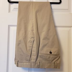 Burberry Mens Cotton-Twill Trousers